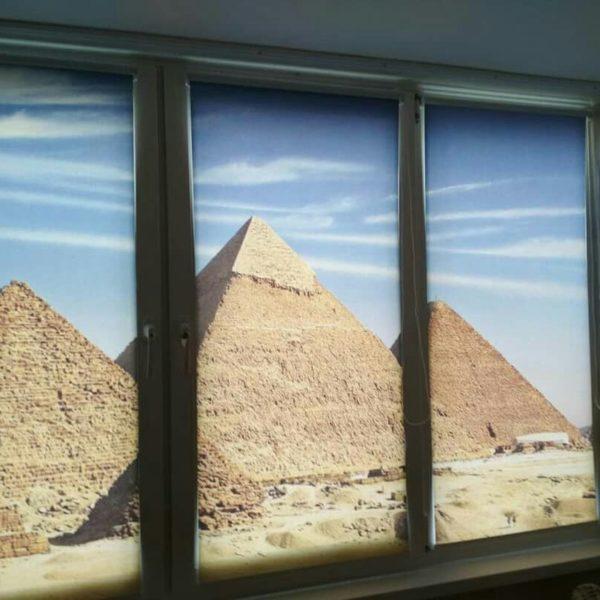 Фотопечать пирамиды. Рольшторы