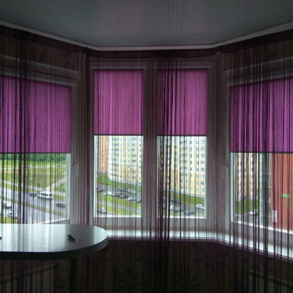 кассетные юни-2, фиолетовая ткань